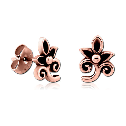 Rose Gold Plated Sprouted Earrings