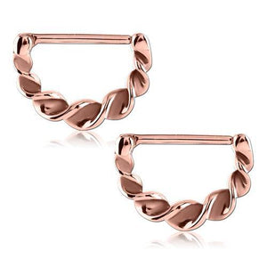 Rose Gold Plated Twirled Nipple Clickers