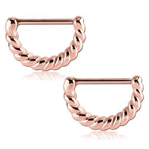 Rose Gold Plated Twisted Nipple Clickers