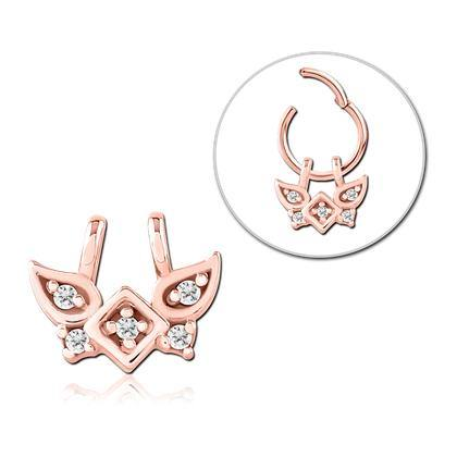 Rose Gold Plated Winged CZ Ring Charm