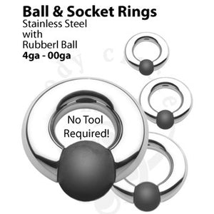 Socket Ring & Rubber Ball by Body Circle Designs