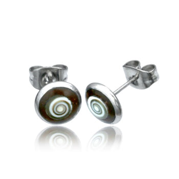 Coco Shell Shiva Eye Stud Earrings