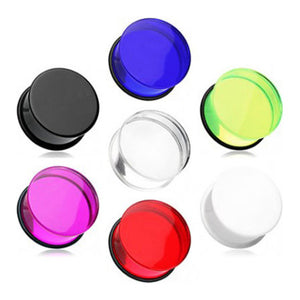 Single Flare Acrylic Plugs