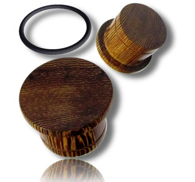 Siamea Wood Single Flared Plugs