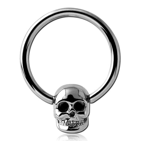 Skull Captive Bead Ring