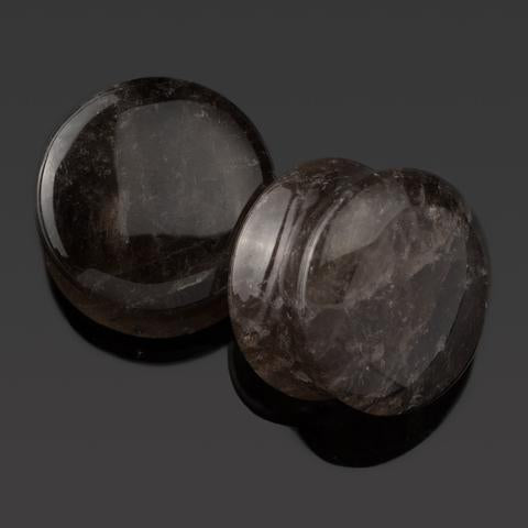 Smokey Quartz Plugs by Diablo Organics