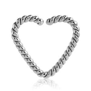 Stainless Braided Heart Shaped Ring