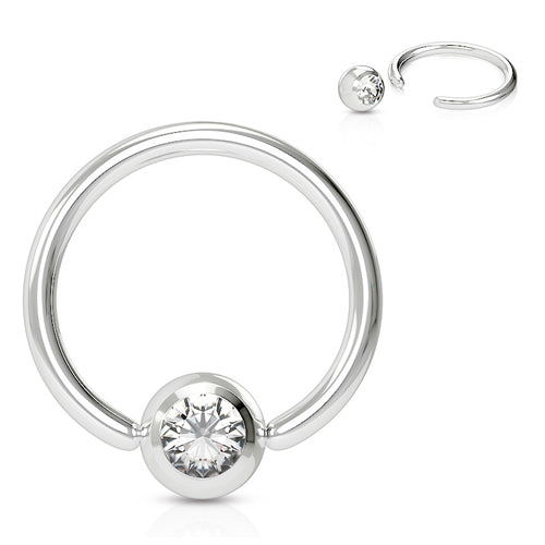 CZ Captive Bead Ring