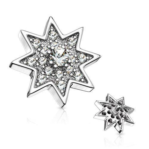 Stainless CZ Star