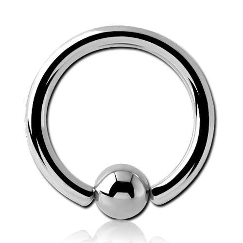 8g Stainless Captive Bead Ring