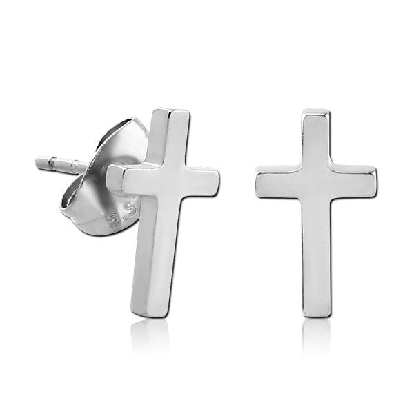 Stainless Cross Earrings