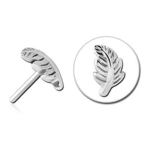 Threadless Stainless Feather