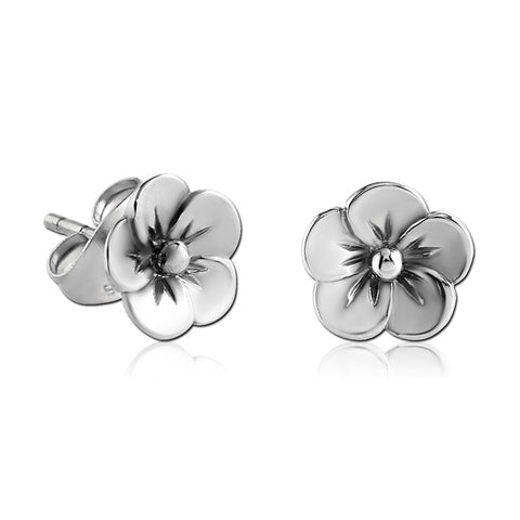 Stainless Flower Earrings