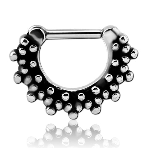 Stainless Multi-Beaded Septum Clicker