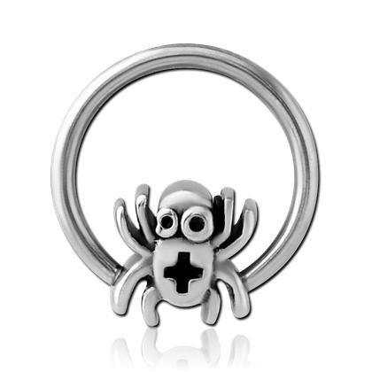 Spider Captive Bead Ring