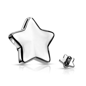 16g Stainless Flat Star
