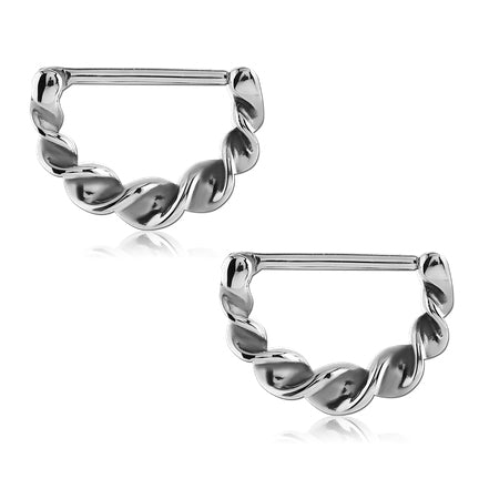 Stainless Twirled Nipple Clickers