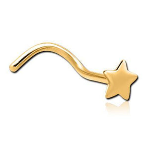 Gold Plated Star Nostril Screw
