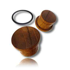 Teak Wood Single Flared Plugs
