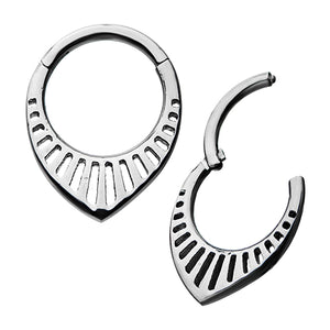 Teardrop Fan Hinged Segment Ring