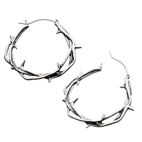 Thorny Vine Tunnel Hoop Earrings
