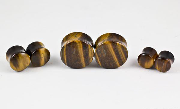 Yellow Tiger Eye Plugs by Oracle Body Jewelry