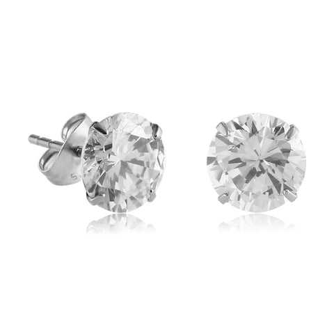 Titanium CZ Stud Earrings