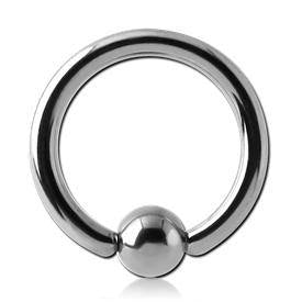 10g Titanium Captive Bead Ring
