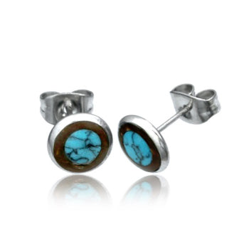Coco Shell Turquoise Stud Earrings