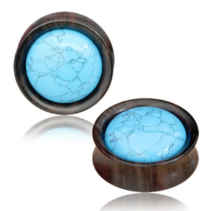 Turquoise Narra Wood Plugs