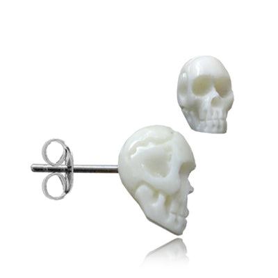 Bone Skull Earrings