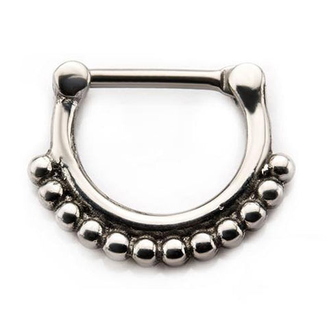 Stainless Beaded Septum Clicker