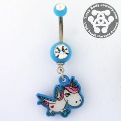 Adorable Unicorn Belly Dangle
