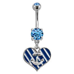 Anchor Heart Belly Dangle