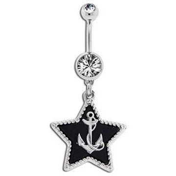 Anchor Star Belly Dangle
