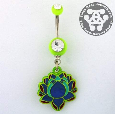Bright Lotus Belly Dangle