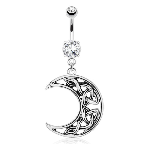 Crescent Moon Belly Dangle