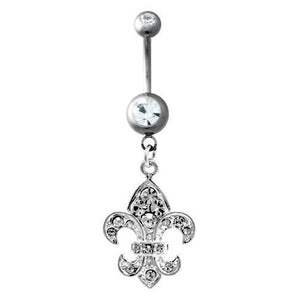 Fleur-de-lis Belly Dangle