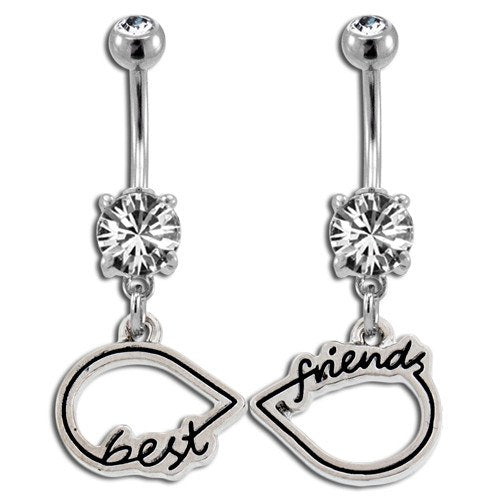 Belly Ring - 14g Infinity Symbol Friendship Belly Dangles