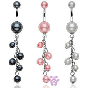 Multi-Pearl Belly Dangle