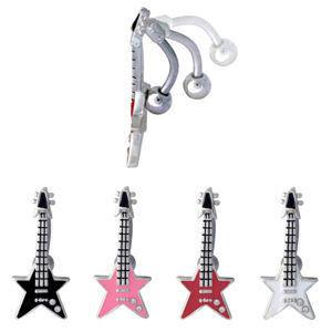 Star Guitar Reverse Belly Ring