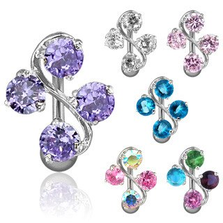 Vine Gem Reverse Belly Ring