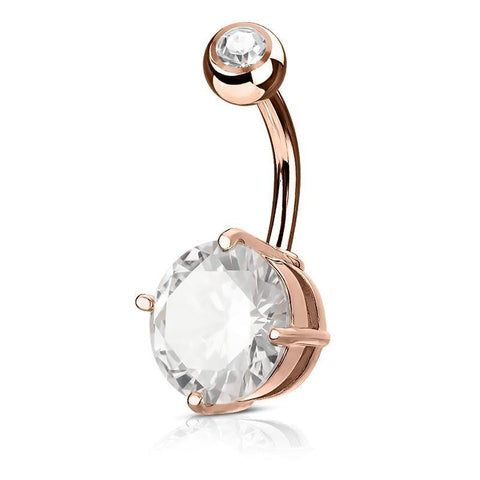 Belly Ring - Round CZ Belly Ring