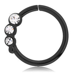 Blackline Triple CZ Continuous Ring