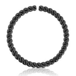 Blackline Braided Continuous Ring
