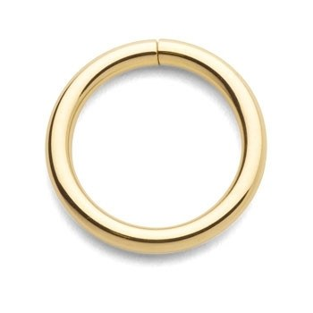 18g Yellow 14k Gold Continuous Ring