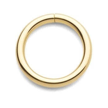 20g Yellow 14k Gold Continuous Ring