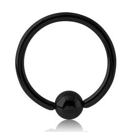 Black Titanium Captive Bead Ring