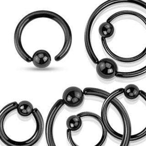 Blackline Fixed Bead Ring