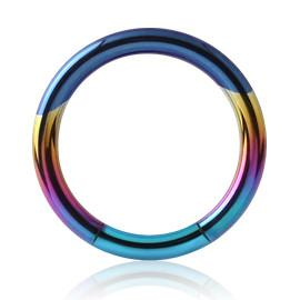Captive Bead Rings - Rainbow Titanium Segment Ring